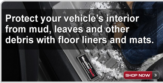 Protect your vehicle's interior from mud, leaves, and other debris - Shop Now