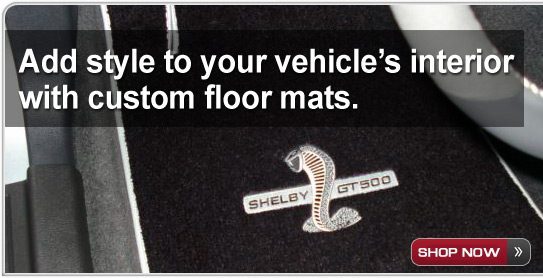 Add style to your vehicle's interior with custom floor mats. - Shop Now