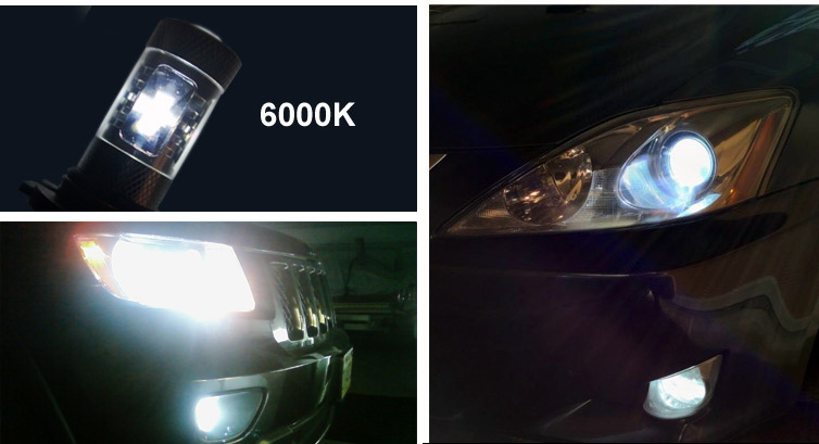LED Fog Light Bulb Examples - 6000K