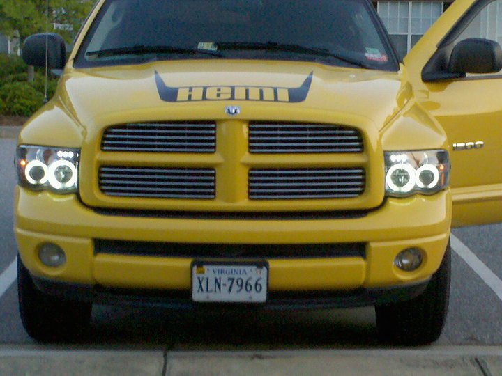 2005 Dodge Ram Halo Headlights Dodge Ram Halo Projector